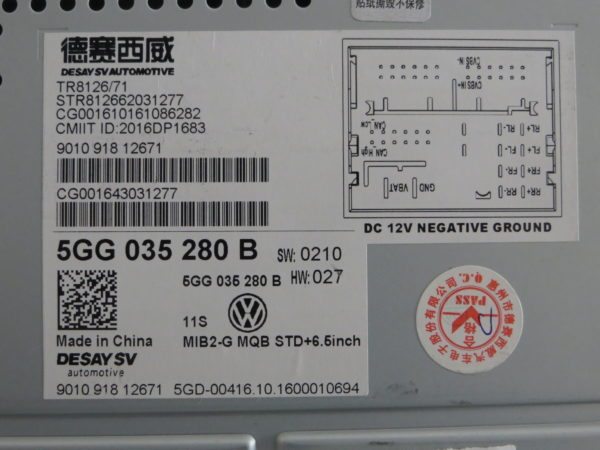 rcd 330 plus MQB 5GG 035 280B